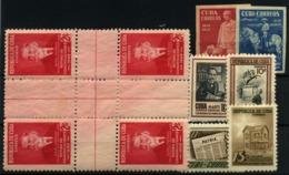 Cuba Nº 260/1, 325, 385/94. Año 1939/53 - Cuba