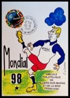 1998 MONDIAL 98. Villiers Sur Marne Amicale Philatélique .Illustration De J. LE PENVEN - Frankreich