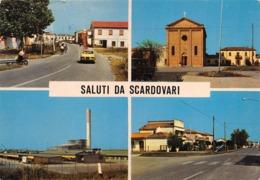 """0756 """"SALUTI DA SCARDOVARI - PORTO TOLLE (RO)"""" ANIMATA. VEDUTINE. CART. ILL. ORIG. SPED. - Italia"""