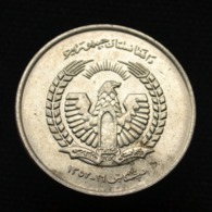 Afghanistan 5 Afghanis 1973, Km977, Asia Coin. UNC, - Afganistán
