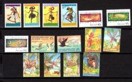 Cocos 1994-95, Marionnettes, Noël, Oiseaux, Insectes, 306 / 320**, Cote 28 € - Cocos (Keeling) Islands