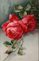 ! Alte Ansichtskarte Künstlerkarte Sign. C. Klein, Catharina Klein, Rosen, Roses, Verlag Meissner+Buch Serie 2025 - Klein, Catharina