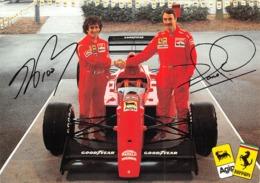 """0758 """"FERRARI  AGIP - ALAIN PROST E NIGEL MANSELL - 1990""""  CART. ILL. ORIG. NON SPED. - Personalità Sportive"""