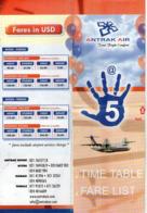 ANTRAK AIR GHANA HORAIRE TIME TABLE PRIX FARE LIST VOLS DOMESTIQUES DOMESTIC FLIGHTS 2004 ACCRA TAMALE KUMASI - Timetables