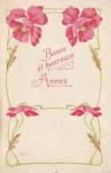 *** FLEURS ***  Bonne Et Heureuse Année - Par Illustrateur Art Nouveau Et Coquelicots - Año Nuevo