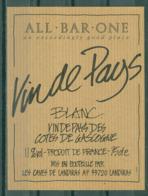 COTES DE GASCOGNE - VIN DE PAYS   LES CAVES DE LANDIRAS (Etiquette Neuve)  11% Vol.  75 Cl - White Wines