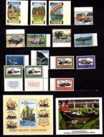 Norfolk 1994-95, Noël, Automobiles Anciennes, Baleines, Véhicules De La 2° Guerre Mondiale, Cote 45 € - Timbres