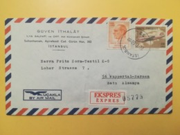 1968 BUSTA INTESTATA TURCHIA TURKIYE TURKEY BOLLO AIRMAIL AIRCRAFT OBLITERE ANNULLO ISTAMBUL AIRMAIL EXPRES - 1921-... Repubblica