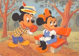 """0762 """"TOPOLINO E MINNI""""  CART. ILL. ORIG. NON SPED. - Disneyworld"""