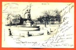 """CPA 50 Saint Lo """" Laitière , Place Des Beaux Regards """" Carte Precurseur 1901 - Saint Lo"""