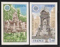 "FRANCIA - FRANCE - EUROPA 1978 -  ""MONUMENTOS"" .- SERIE  2 V.- COMPLETA - SIN DENTAR  LUJO (IMPERFORATED) - Europa-CEPT"