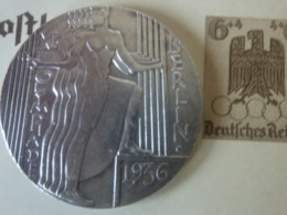 Médaille XI Olympiade BERLIN 1936 METAL ARGENTE - Duitsland