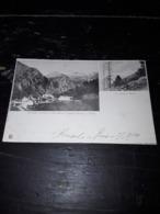 Cartolina Postale, Postcard 1900, Pension Berisal Poste,  Le Bortel Horn - VS Wallis