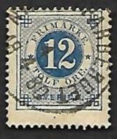 SUEDE  1877-85 - YT  20 A  Dent. 13 - Oblitéré - Gebraucht