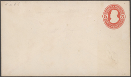 Argentinien - Ganzsachen: 1876/1923 Specialized Collection In An Ancient Album With Ca. 540 Unused A - Interi Postali