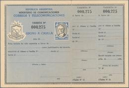 Argentinien - Ganzsachen: 1931/1954, Post Office Box Rentals, Lot Of Five Pieces: 12p. Orange/dark B - Interi Postali