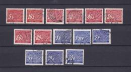 Böhmen Und Mähren - 1939/40 - Portomarken - Michel Nr. 1/14 - Gest. - Besetzungen 1938-45