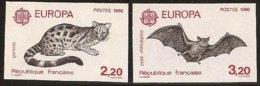 """FRANCIA - FRANCE -EUROPA 1986 -"""" PROTECCIÓN NATURALEZA Y MEDIO AMBIENTE"""" .- SERIE  2 V.- SIN DENTAR  LUJO (IMPERFORATED) - 1986"""