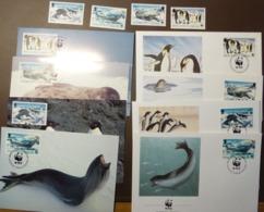 WWF  Premier Jour  British Antartic Territory  Animal Marin Zeeleeuw Pinguin 1992 #cover4916 - W.W.F.