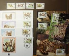 BURUNDI WWF FAUNA ANIMALS WILD CATS SERVAL 1992 #cover4917 - W.W.F.