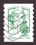 Françe  2013 -  Marianne De Ciappa Et Kavena Lettre Verte 20g # Papier à Bandes Phosphorées Blanches - 2013-... Marianne (Ciappa-Kawena)
