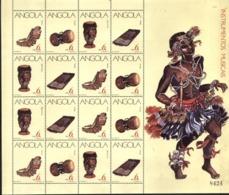 ANGOLA, 1991, MUSICAL INSTRUMENTS, R#242-45, YV#820-23, MS, MNH - Angola