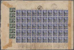 Deutsches Reich - 3. Reich: 1934, Flugpostmarken 3 RM Zeppelin Als Massenfrankatur Auf Briefrückseit - Deutschland