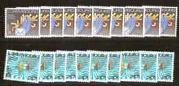 Cept 1988 Luxembourg  Yvertn° 1149-50 *** MNH 10 Séries Cote 80 Euro - Europa-CEPT