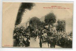 37 AMBOISE Attelages Chars Rue Fete Des Fleurs 30- 31 Jullet Et 1er Aout 1910 - Edit Andréane    D15 2019 - Amboise