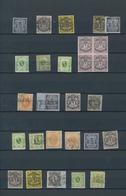 Bremen - Marken Und Briefe: 1855/1867, Gestempelte Und Ungebrauchte Sammlungspartie Auf Stecktafel M - Bremen