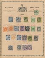 Bremen - Marken Und Briefe: 1855/1868, Sammlung Auf Vordruck Mit Besseren Werten, Stark Unterschiedl - Bremen