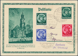 Deutsches Reich - 3. Reich: 1933/1945, Partie Von Vier ERSTTAGSBELEGEN: Fridericus 1933 Als Zusatz A - Deutschland