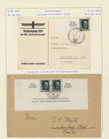 Deutsches Reich - 3. Reich: 1933/1945, Sammlung Von Ca. 365 Briefen Und Karten, Sauber In Drei Alben - Deutschland