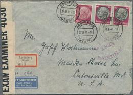 Deutsches Reich - 3. Reich: 1933-1945, Ca. 350 Briefe, Karten, Paketkarten, Ganzsachen Und Postkarte - Deutschland
