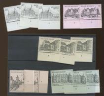 Tourisme 1993.  13 Timbres Avec N° De Planche. Plaatnummers. Postfris - Plate Numbers
