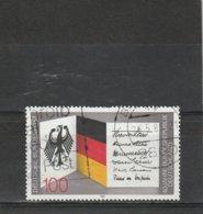Allemagne Fédérale Oblitéré 1989  N° 1253  40e Anniversaire De La R.F.A - Used Stamps