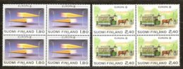 Cept 1988 Finlande Finland Suomi Yvertn° 1015-1016 *** MNH 4 Séries  Cote 40 € Transport Communication - Europa-CEPT