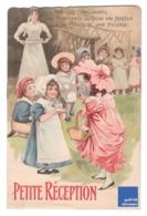 Rare Livret Illustré Chocolat Van Houten Petite Réception Jouet Jeu Poupée Fille Robe Victorien Edwardian Chaud Lait B1 - Van Houten