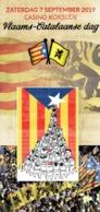 Catalunya Catalogne Catalonië Invitació Diada Flamenca-catalana Con Carles Puigdemont Koksijde Coxyde Belgica 7/9/19 - Programmes