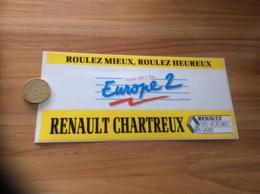 AUTOCOLLANT, Sticker * «Europe 2 99.7 FM ROUEN (76) - RENAULT CHARTREUX» (radio) - Adesivi