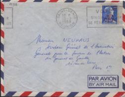 """Réunion  Saint-Denis 13-9 1958 Flamme O= """" Votez Sinon L'Avenir Se Fera Sans Vous"""""""" - Oblitérations Mécaniques (flammes)"""