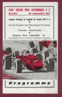 041019 - SPORT AUTOMOBILE - PROGRAMME GRAND PRIX AUTOMOBILE F2 ALBI 1971 XXIXe - Automobile - F1