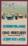 041019 - SPORT AUTOMOBILE - PROGRAMME GRANDS PRIX DE FRANCE LINAS MONTLHERY 1966 - Car Racing - F1