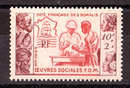 Côte Française Des Somalis - 1950 - N° 283 - Neuf ** - Oeuvres Sociales - Côte Française Des Somalis (1894-1967)