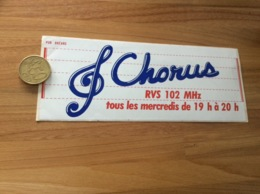 AUTOCOLLANT, Sticker «Chorus - RVS 102 MHz» (radio, Clef De Sol) - Aufkleber