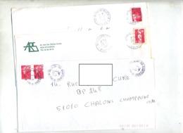 Lot 5 Lettre Cachet Tri Lettre A  Et C - Marcophilie (Lettres)