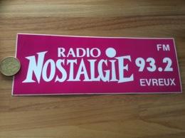 AUTOCOLLANT, Sticker «RADIO NOSTALGIE - 93.2 FM EVREUX (27)» - Autocollants