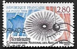 FRANCE  1994  -  Y&T  2904    -  Conservatoire Des Arts Et Métiers - Oblitéré - France