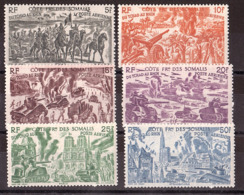 """Côte Française Des Somalis - 1946 - PA N° 14 à 19 - Neufs ** - """"Du Tchad Au Rhin"""" - Côte Française Des Somalis (1894-1967)"""