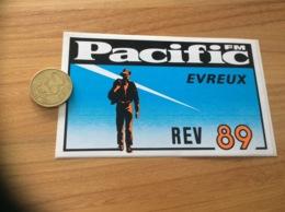 AUTOCOLLANT, Sticker «Pacific FM - REV 89 - EVREUX (27)» (radio) - Autocollants